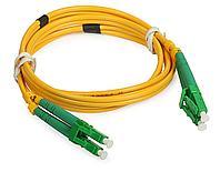 Коммутационный шнур оптический Cabeus Tight Buffer, Duplex LC/LC APC, OS2 9/125, LSZH, Ø 2мм, 15м, цвет: жёлтый, FOPd-9-LC/APC-LC/APC-15m