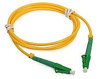 Коммутационный шнур оптический Cabeus Tight Buffer, Simplex LC/LC APC, OS2 9/125, LSZH, Ø 2мм, 15м, цвет: жёлтый, FOPs-9-LC/APC-LC/APC-15m