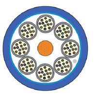Кабель волоконно-оптический Siemon XGLO, Tight Buffer, 48хОВ, OM3 50/125, LSZH, Ø 15мм, небронированный, цвет: синий