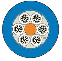 Кабель волоконно-оптический Siemon XGLO, Central Tube, 48хОВ, OM3 50/125, LSZH, Ø 10,5мм, водоблокирующие ленты, цвет: синий