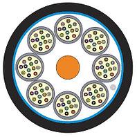 Кабель волоконно-оптический Siemon XGLO, Tight Buffer, 48хОВ, OS2 9/125, LSZH, Ø 18,3мм, небронированный, цвет: чёрный