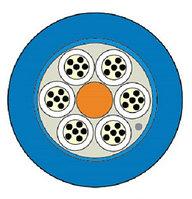 Кабель волоконно-оптический Siemon XGLO, Central Tube, 24хОВ, OM3 50/125, LSZH, Ø 10,5мм, водоблокирующие ленты, цвет: синий