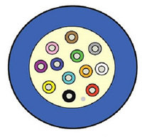 Кабель волоконно-оптический Siemon XGLO, Tight Buffer, 16хОВ, OM3 50/125, LSZH, Ø 7,8мм, небронированный, цвет: синий