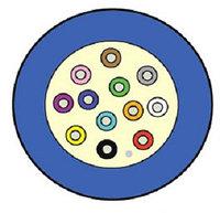 Кабель волоконно-оптический Siemon XGLO, Loose tube, 6хОВ, OS2 9/125, LSOH, Ø 4,9мм, небронированный, цвет: синий