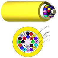Кабель волоконно-оптический Nexans LANmark-OF, Tight Buffer, 24хОВ, OS2 9/125, LSZH, Ø 5,3мм, небронированный, классификация cca, цвет: жёлтый