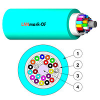 Кабель волоконно-оптический Nexans LANmark-OF, Tight Buffer, 6хОВ, OM3 50/125, LSZH, Ø 5,3мм, небронированный, цвет: аквамарин