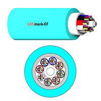 Кабель волоконно-оптический Nexans LANmark-OF, Micro-Bundle, 24хОВ, OM3 50/125, LSZH, Ø 5,9мм, небронированный, цвет: аквамарин