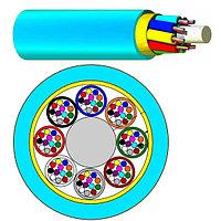 Кабель волоконно-оптический Nexans LANmark-OF, Micro-Bundle, 144хОВ, OM3 50/125, LSZH-FR, Ø 8,8мм, 1070м, катушка, небронированный, цвет: аквамарин