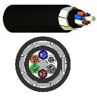Кабель волоконно-оптический Nexans LANmark-OF, Multi Tube, 48хОВ, OS2 G.652, PE, Ø 15,9мм, 1070м, катушка, диэлектрический, цвет: чёрный
