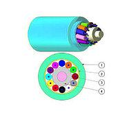 Кабель волоконно-оптический Nexans LANmark-OF, Tight Buffer, 6хОВ, OM3 50/125, LSZH, Ø 5,3мм, диэлектрический, цвет: голубой