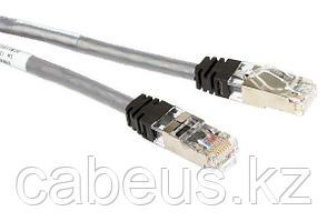 Шнур коммутационный Panduit, кат. 6A, экр., S/FTP, RJ45/RJ45, 500 МГц, 20м, PVC, AWG26, серый, цвет