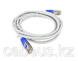 Шнур коммутационный Panduit, кат. 5е, экр., U/UTP, RJ45/RJ45, 2м, PVC, AWG26, серый, цвет коннектора: синий,