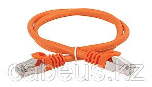 Шнур коммутационный ITK, кат. 5е, экр., FTP, RJ45/RJ45, 1м, PVC, оранжевый, PC07-C5EF-1M