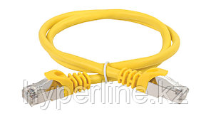 Шнур коммутационный ITK, кат. 5е, экр., FTP, RJ45/RJ45, 1м, PVC, жёлтый, PC05-C5EF-1M