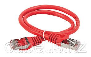Шнур коммутационный ITK, кат. 5е, экр., FTP, RJ45/RJ45, 1м, PVC, красный, PC04-C5EF-1M