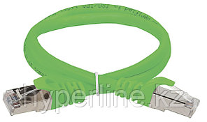 Шнур коммутационный ITK, кат. 5е, экр., FTP, RJ45/RJ45, 1м, PVC, зелёный, PC02-C5EF-1M