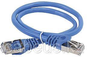 Шнур коммутационный ITK, кат. 5е, экр., FTP, RJ45/RJ45, 1м, PVC, синий, PC03-C5EF-1M