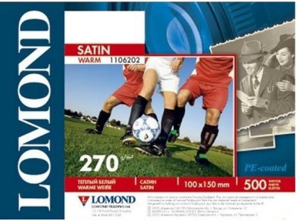 Фотобумага Lomond Satin Warm, 10 х 15, 270 г/м2, 500 листов (арт. 1106202)