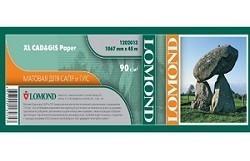 Бумага Lomond XL CAD&GIS Paper, ролик 1067 х 50 мм, 90 г/м2, 45 метров (арт. 1202013)