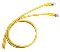 Шнур коммутационный Legrand LCS3, кат. 6A, неэкр., U/UTP, RJ45/RJ45, 5м, PVC, AWG26, жёлтый, 051885