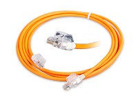 Шнур коммутационный Nexans LANmark-6 Secure Lock, кат. 6, неэкр., U/UTP, RJ45/RJ45, d 6, 2м, LSZH, оранжевый, N116.L1A020O77