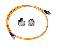 Шнур коммутационный Nexans LANmark-8, кат. 8, экр., S/FTP, GG45/RJ45, d 6,35, 3м, LSZH, оранжевый, N101.2D8O300
