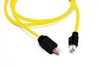 Шнур коммутационный односторонний Nexans LANmark Industry, кат. 6, экр., S/FTP, RJ45, d 6,5, 10м, PVC, жёлтый, Односторонний, N10i.E64OJ