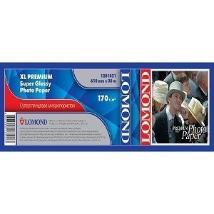 Фотобумага Lomond XL Premium Super Glossy Photo Paper, 200 г/м2, 610 x 50,8 мм, 30 метров (арт. 1201021)