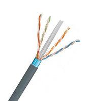 Кабель витая пара Panduit, F/UTP, 4 пар., кат. 5е, Ø 5,9мм, AWG24, PVC, 650МГц, 1м бухта 305м, с разделителем, тип прокладки: внутри зданий, цвет: