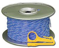 Кабель витая пара Siemon, U/UTP, 1 пар., кат. 5е, Ø 1мм, AWG24, без оболочки, 160МГц, 1м бухта 305м, тип прокладки: внутри зданий, цвет: синий