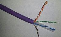 Кабель витая пара Siemon Premium, U/UTP, 4 пар., кат. 6, Ø 5,6мм, AWG24, LSZH, 250МГц, 1м катушка 500м, тип прокладки: внутри зданий, цвет: фиолетовый
