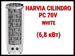 Электрическая печь Harvia Cilindro PC 70V White со встроенным пультом