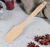 Лопатка кухонная из массива бука 27,5 см, фото 2