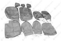 Чехлы сидений 2363 Пикап (черная экокожа) с 2015 г.в.