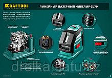 KRAFTOOL CL-70 нивелир лазерный , 20м/70м, IP54, точн. +/-0,2 мм/м, питание 4хАА, в коробке, фото 3