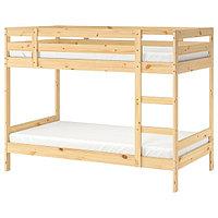 Кровать каркас 2-ярусной МИДАЛ сосна ИКЕА, IKEA, фото 1