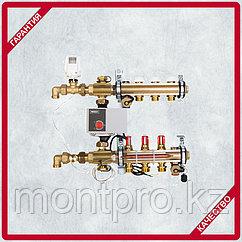Compactfloor light. Готовый к монтажу модуль управления для напольного отопления. Подключение снизу