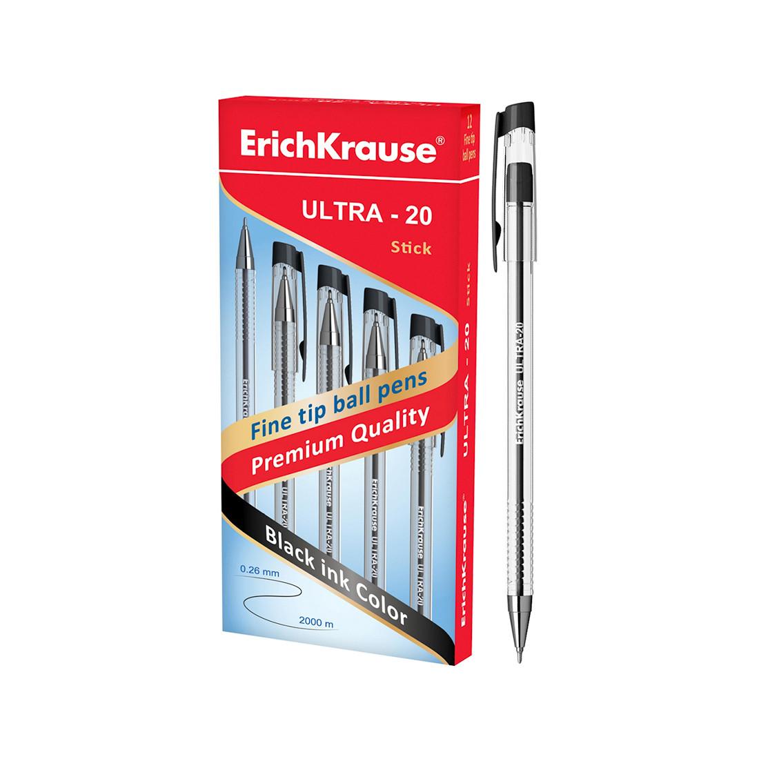 Ручка шариковая ErichKrause ULTRA-20 (Черный)