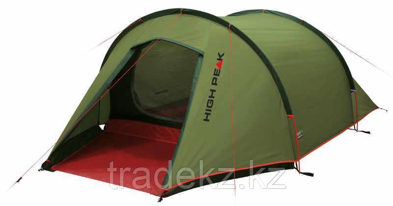 Палатка 3-х местная HIGH PEAK KITE 3, цвет оливковый/красный