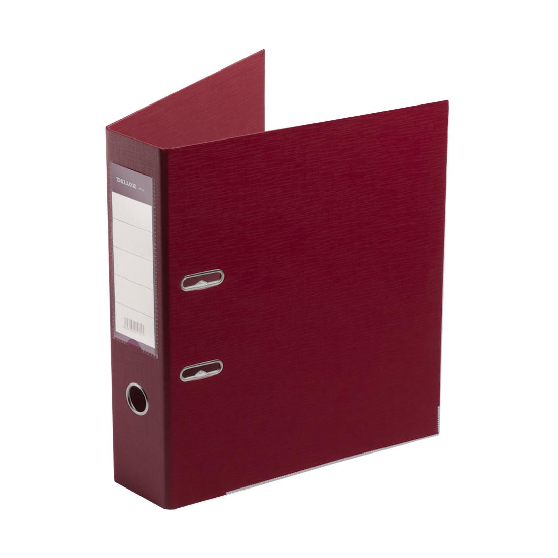 Папка–регистратор с арочным механизмом Deluxe Office 3-WN8 (70 мм, А4, Красный)