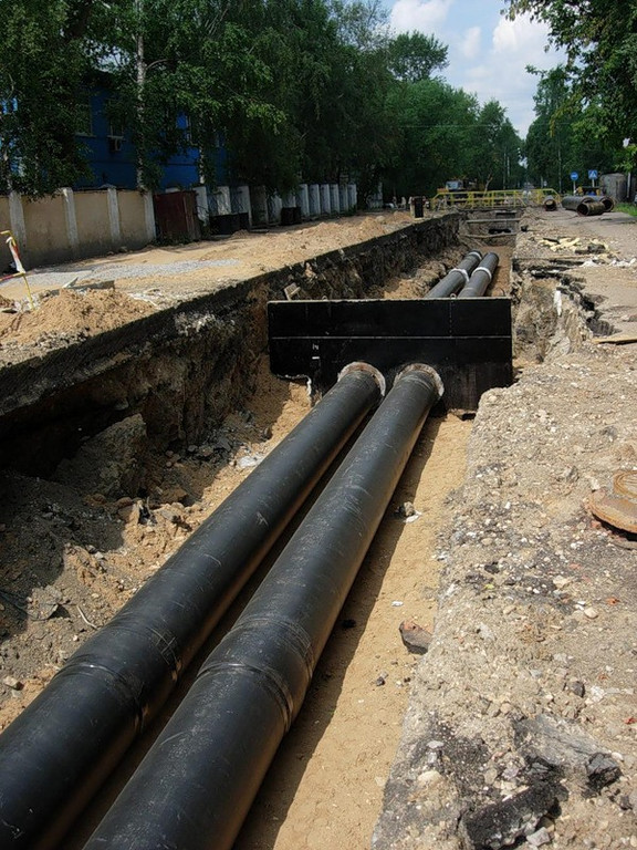 Прокладка магистральных трубопроводов тепловых сетей в городе Астана ж.к Гранд Астана
