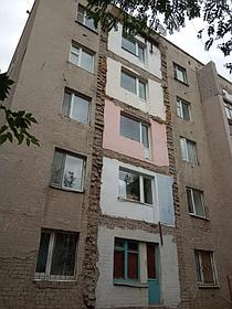 Демонтаж и монтаж аварийных балконов, ремонт фасада, ремонт кровли на доме по адресу пр Республики 7/1. 1