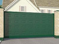 Автоматические откатные ворота. 4400х2200 с калиткой 1000х2200