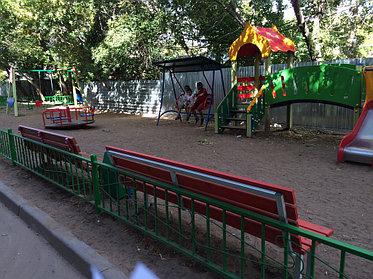 Благоустройство территории и устройство детской площадки по ул. Абая 2