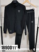 Спортивный костюм Adidas черный эластичный, фото 1