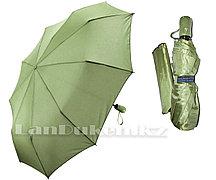 Зонт полуавтомат складной в чехле Dolphin с системой антиветер зеленый (с блестящим эффектом)