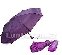 Зонт полуавтомат складной в чехле Dolphin с системой антиветер фиолетовый хамелеон (с блестящим эффектом)