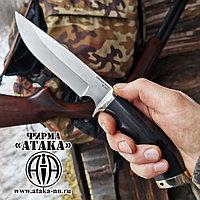 """Нож """"Уссуриец-1"""" из порошковой стали ELMAX, рукоять стабилизированный граб"""