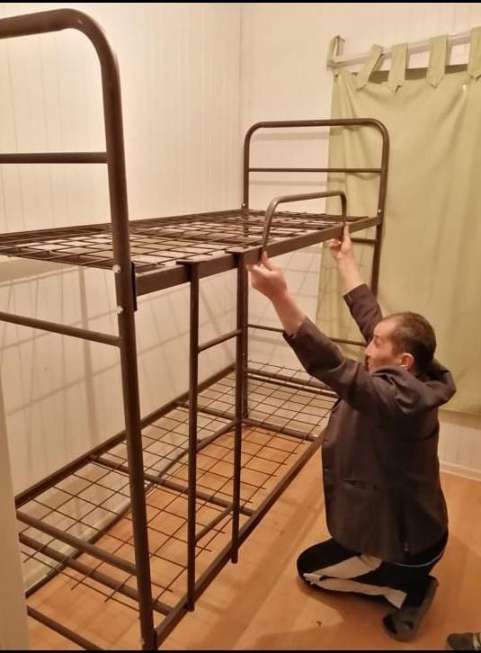 Кровать металлическая двухярусная