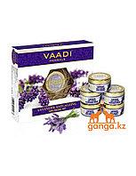 Набор по уходу за кожей с лавандой (Lavender anti-ageing spa Facial Kit VAADI Herbals), 270 гр